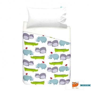 Mr Fox 2 Teiliges Kinder Bettwasche Set Nilpferd Bettbezug 100 X