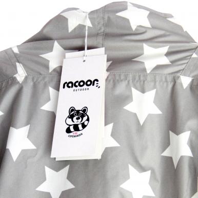 racoon jungen jacke hubert star taslon in grau wei mit allover sternen print kindersachen. Black Bedroom Furniture Sets. Home Design Ideas