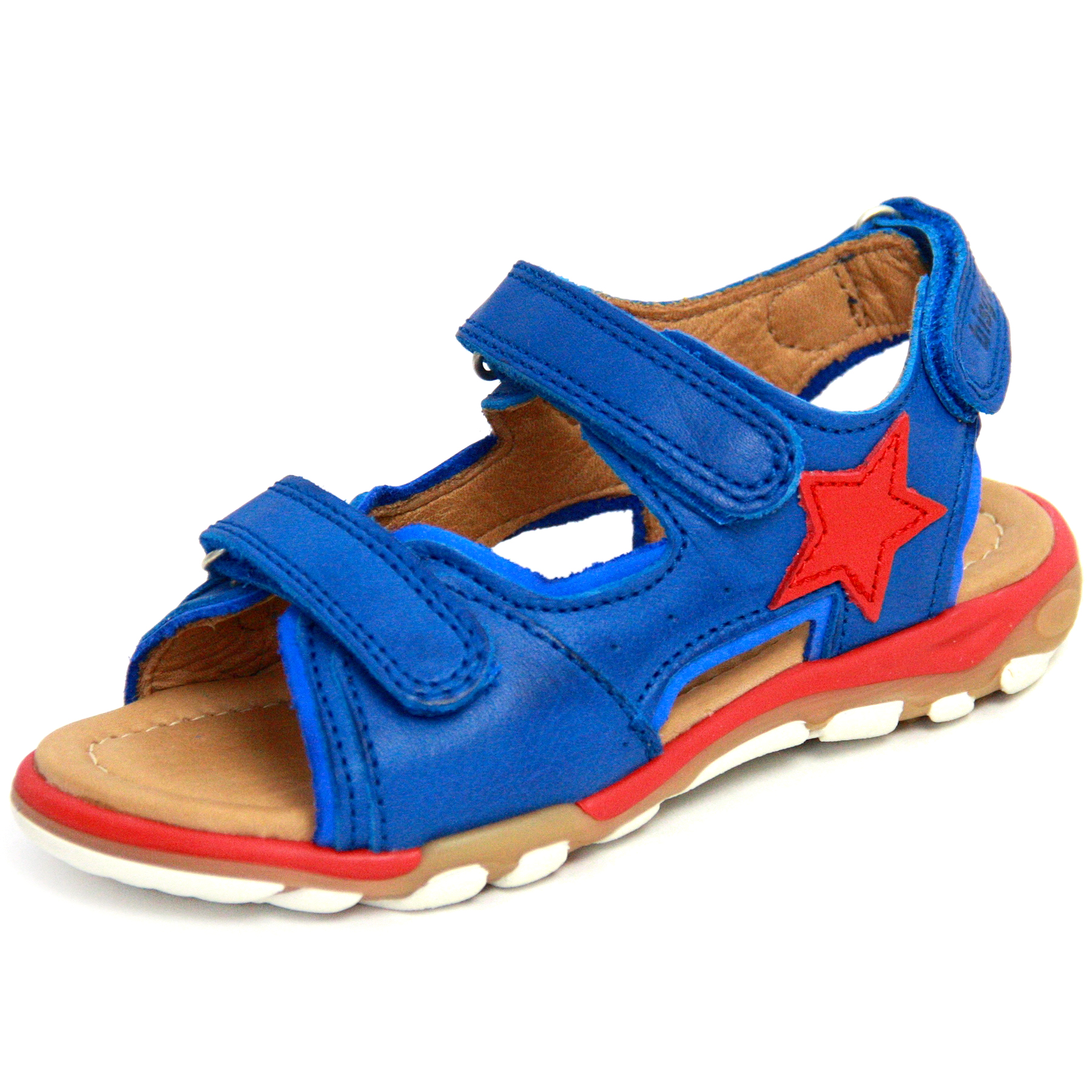 billig für Rabatt 10118 8f867 BISGAARD Kinder Sandale / Jungen Leder Sandale in Cobalt ...