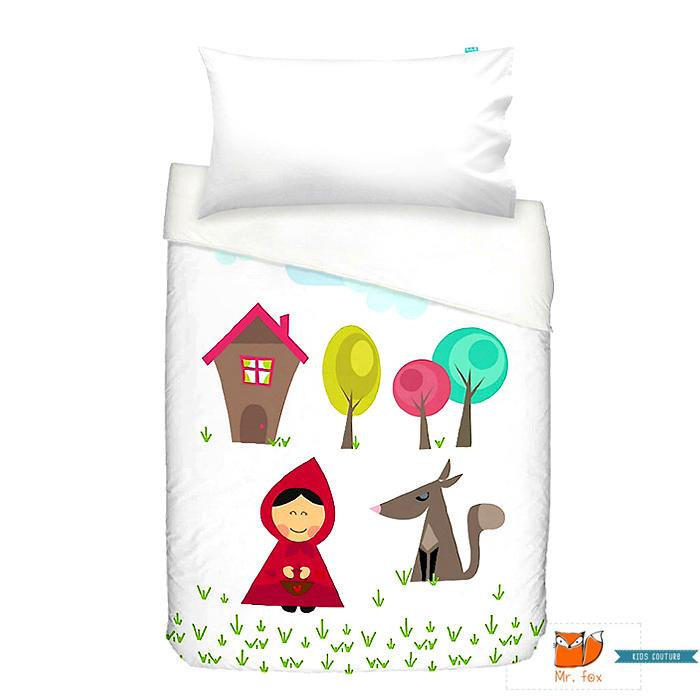Mr Fox 2 Teiliges Kinder Bettwäsche Set Rotkäppchen Bettbezug 100