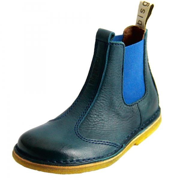 info for 45664 3daf0 BISGAARD Kinder Lederstiefel / Chelsea Boots mit elastischem ...