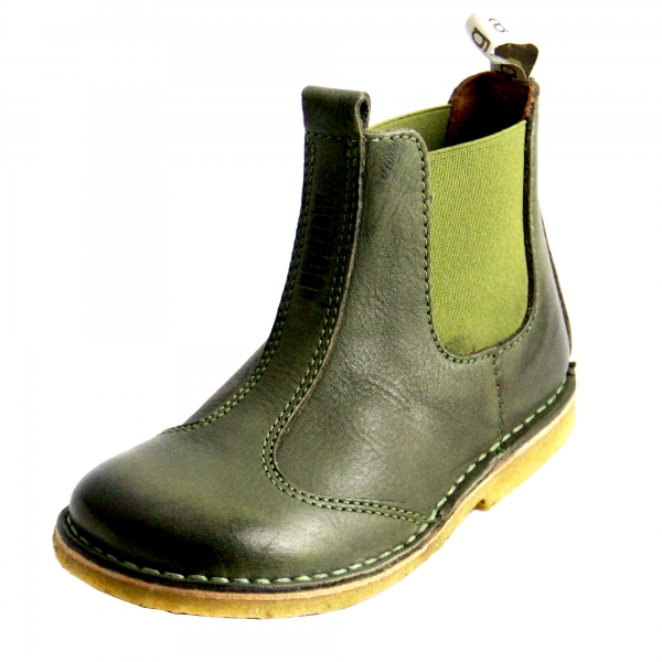 info for 9ad8e d8133 BISGAARD Kinder Lederstiefel / Chelsea Boots mit elastischem ...