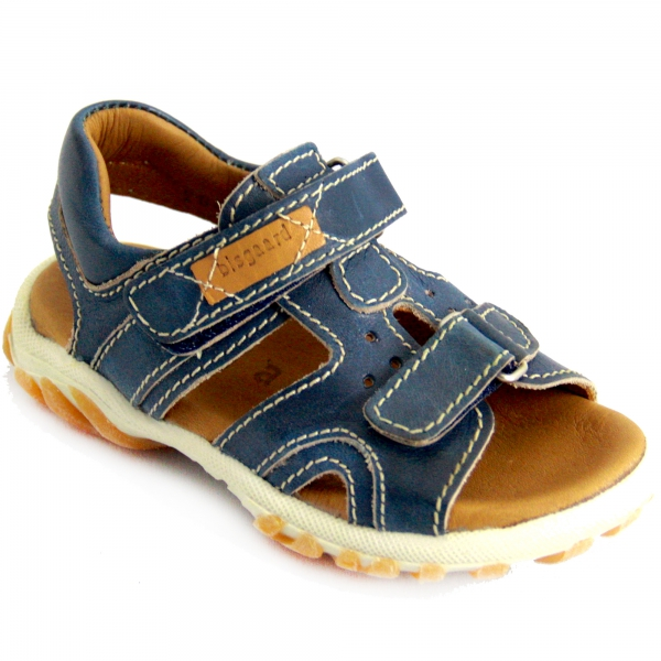 neuer Stil c4c99 a7933 BISGAARD Kinder Sandale / Jungen Leder Sandale in Blau (Blue ...