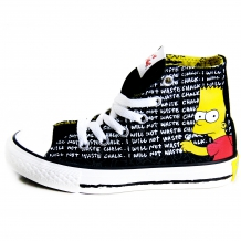 "CONVERSE ALL STAR Chucks CT HI Sneaker ""The Simpsons"" Black / Multi Colour"