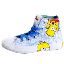 "CONVERSE ALL STAR Chucks CT HI Sneaker ""The Simpsons"" White / Multi Colour"