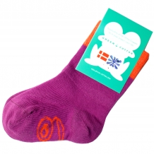 "FRED'S WORLD by GREEN COTTON Mädchen Strümpfe ""Socks Fred"" Lila / Orange (Violet)"