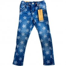"NAME IT Mädchen Jeggings ""Casey Kids DNM Legging"" Jeans in Denim Blue mit Sternen-Print (Slim Pant)"