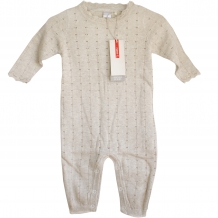 "NAME IT Baby Mädchen Overall ""Finnea NB SO LS"" Knit Suit 115 in Beige (Peyote)"