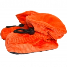 MELTON Baby & Kinder Hausschuhe mit Fleece-Futter in Orange