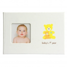 "PEARHEAD Baby Fotoalbum ""Babys First Year"" in Beige (17 x 12 x 1 cm)"