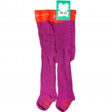 "FRED'S WORLD by GREEN COTTON Baby Strumpfhose ""Tights Fred"" in Lila / Orange (Violet)"