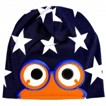 "FRED'S WORLD by GREEN COTTON Jungen Mütze ""Stars"" Star Peep Beanie in Blau (Skipper)"