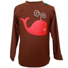 "FRED'S WORLD by GREEN COTTON Schwimmshirt ""Wal"" mit UPF 50+ in Braun / Rot (Cappuccino)"