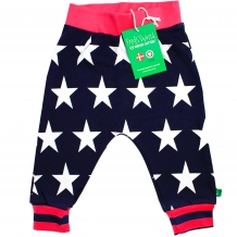"FRED'S WORLD by GREEN COTTON Mädchen Hose ""Star Funky Pants"" in Blau mit Allover-Sternen-Print (Skipper)"