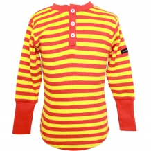 MOONKIDS 70er Jahre Retro Henley-Shirt in Orange / Gelb