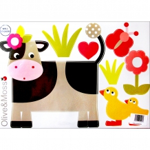 "OLIVE & MOSS Wandaufkleber ""Collette the Cow"" Kinderzimmer Sticker Tiere Kuh"